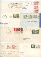 Canada 1960's-70's 8 Covers To Ann Arbor Michigan, Mix Of Stamps & Postmarks - 1952-.... Reign Of Elizabeth II