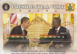 2012 Ghana   Obama USA President Visit Souvenir Sheet MNH - Ghana (1957-...)