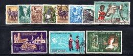 APR1492 - UGANDA OUGANDA 1962 , Serietta Yvert  11 Valori Usata (2380A) . - Uganda (1962-...)