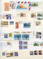 Canada 1990's 20 Covers To U.S., Mix Of Stamps & Postmarks - 1952-.... Reign Of Elizabeth II