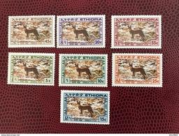 ÉTHIOPIE 1988 Serie Complète Siemens Fox  De 7 V Neuf ** MNH  Wildlife Of Ethiopia - Sellos