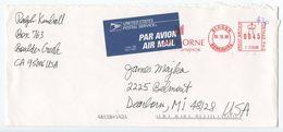 Great Britain 2000 Airmail Cover Slough, Berkshire To Dearborn Michigan, Meter - 1952-.... (Elizabeth II)