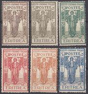ERITREA - 1926 - Serie Completa Di 6 Valori Nuovi Senza Linguella: Yvert 107/112. - Eritrea