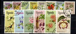 APR1495 - UGANDA OUGANDA 1969 ,  Yvert  N. 83/96  Usato (2380A) . Manca Il Piccolo Valore N. 82 - Uganda (1962-...)