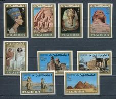 Fujeira 1966 Mi # 49 B - 57 B EGYPT CULTURE Stamp Set MNH - Fujeira