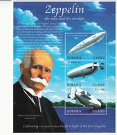 2000 Ghana   Zeppelin Complete Set Of 2 Sheets MNH - Ghana (1957-...)
