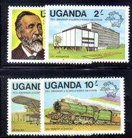 APR1497 - UGANDA OUGANDA 1981 ,  Yvert  N. 254/257  *** (2380A) . Upu - Uganda (1962-...)