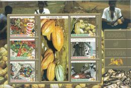 2007 Ghana   Cocoa Chocolate Miniature Sheet Of 6 MNH - Ghana (1957-...)