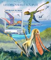 NIGER 2019 - Pterosaurs S/S. Official Issue - Préhistoriques