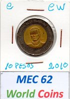 MEC 62 - / RP. DOMINICAINE / 10 PESOS 2010 / - NA.1B - Dominicaine