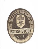 ETIQUETTE BIERE EXTRA-STOUT C.T.S. / BR. INBEV - LEUVEN - Beer