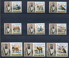 Fujeira 1967 Mi # 119 A - 127 A FAUNA ANIMALS Stamp Set MNH - Fujeira