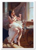 SEXY LADY Woman Semi Nude Erotica FINE ART By Marina Rusian New Postcard - Nudi Artistici (1960-…)