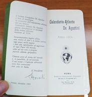 1904 - Calendario Atlante De Agostini - Formato Piccolo : 1901-20