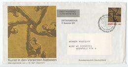 United Nations - Geneva 1972 FDC Scott 28 Art, Geneva To Biebrich Germany - FDC