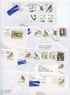 Ireland 2000's 7 Airmail Covers To Franklin Michigan, Mix Of Stamps & Postmarks - 1949-... Republic Of Ireland