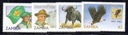 APR1502 - ZAMBIA 1982, Serie Yvert  N. 258/261  *** (2380A) .  Scout - Scoutismo