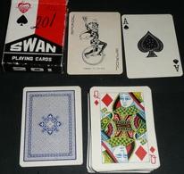 Rare Jeu De 54 Cartes Chinois, Chine Swan 201, Joker Ace Of Spade, As De Pique - Juegos De Sociedad