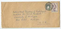 Ireland 1950's Cover Dublin To Ann Arbor, Michigan, University Of  Michigan - 1949-... Republic Of Ireland