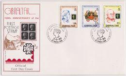 1990 - FDC 150° Del 1° Francobollo - Gibilterra