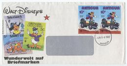 Antigua 1982 Cover St. John's W/ Mickey Mouse Disney Stamps - Antigua And Barbuda (1981-...)