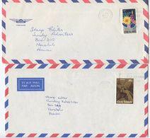 Cook Islands 1980 2 Airmail Covers Avarua To Honolulu, Hawaii - Cook Islands