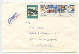 New Zealand 1987 Airmail Cover Glen Eden To Würzburg Germany, Scott 871 & B129 - New Zealand