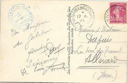 FRANCE - CP - 17.8.1934  - RESTAURANT DU GALIBIER Mme MOTTE /1 - Postmark Collection (Covers)