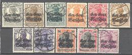 Pologne Occupation Allemande: Yvert N° 6/16°;  Cote 18.00€ ° - Besetzungen 1914-18