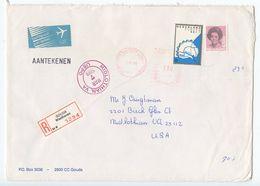 Netherlands 1989 Registered Airmail Cover Gouda To Midlothian VA, Scott 630 & 645 - Period 1980-... (Beatrix)
