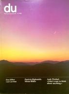 CA118 Du - Europäische Kunstzeitschrift, Nr. 477, November 1980, Neuwertig - Zeitungen & Zeitschriften