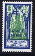 INDE ßurcharge »Croix De Lorraine Et FRANCE LIBRE»  Maury  208 IIa Surcharge Bleue   ** - Ungebraucht