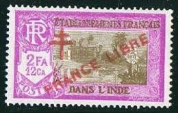 INDE ßurcharge «Croix De Lorraine Et FRANCE LIBRE» 2 Fa 2 Ca  Maury  213 II ** - Ungebraucht