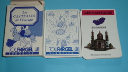 Rare Ancien Jeu De Cartes Des Familles Publicitaire, Pub TOUPARGEL Surgelés, Paires Mariage, Les Capitales D'Europe - Group Games, Parlour Games