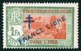INDE ßurcharge »Croix De Lorraine Et FRANCE LIBRE»  Maury  209 IIa ** - Ungebraucht