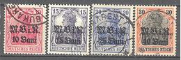 Roumanie Occupation Allemande: Yvert N° 4/7°;  Cote 12.00€ ° - Besetzungen 1914-18