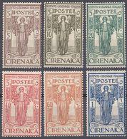 CIRENAICA - 1926 - Serie Completa Di 6 Valori Nuovi MH: Yvert 31/36. - Cirenaica