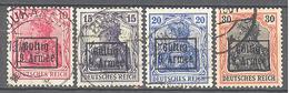 Roumanie Occupation Allemande 9° Armée: Yvert N° 3/6°;  Cote 60.00€ ° - Besetzungen 1914-18