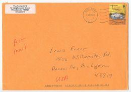Singapore 2000 Airmail Cover To Dansville Michigan, Scott 790 Taxi - Singapore (1959-...)