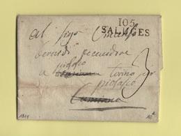 Saluces - 105 - 1811 - Departement Conquis De La Stura - Marcofilia (sobres)