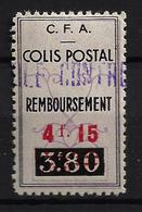 ALGÉRIE / ALGERIA 1941 - YT Colis Postaux 77a** - Surcharge Rouge - Parcel Post