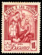 Ayuda A Las Víctimas Del Fascismo. 10 Cts. - Viñetas De La Guerra Civil