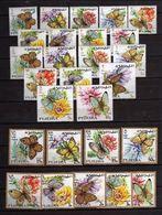 Fujeira 1967 Mi # 159 A - 185 A BUTTERFLY FAUNA Stamp Set MNH - Fujeira