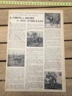 LIS1939-40 VISITE DU MUSEE DU DUC D ORLEANS - Vieux Papiers