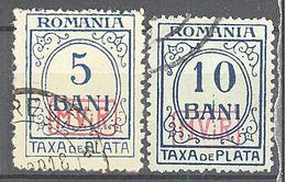 Roumanie Occupation Allemande: Yvert Taxe N° 1/2°;  Cote 18.00€ ° - Besetzungen 1914-18