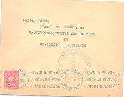 FRANCE - LETTRE FONTAINEBLEAU 26.2.59 - CACHET 123e GROUPE D'EXPLOITATION DES TRANSMISSIONS - FM 12   /1 - Postmark Collection (Covers)