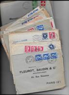 Archive De ++ 200 Lettres Commerciales FLEUROT BAUDIN Nombreuses Lettres Timbre Type MULLER - 1955- Marianne De Muller