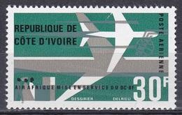 Elfenbeinküste Ivory Coast Cote D'Ivoire 1966 Luftfahrt Aviation Transport Flugzeuge Aeroplanes Douglas-DC-8, Mi. 304 ** - Côte D'Ivoire (1960-...)