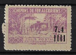 ALGÉRIE / ALGERIA 1944 - YT Colis Postaux 137** - Variété Sans Surcharge Controle Des Recettes - Colis Postaux