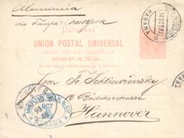 CUBA. Ø E.P. 12. 1893 (14 Oct.). Circulado De Habana A Hannover (Alemania) Vía Tampa Y Nueva York. Matasellos De Llegada - Cuba (1874-1898)